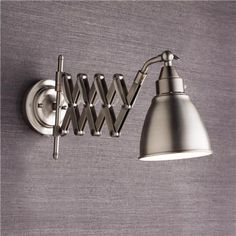 Shades of Light Accordion Cone Swing Arm Wall Lamp Product SKU: WS13003 SN | http://www.shadesoflight.com/accordian-cone-swing-arm-wall-lamp.html