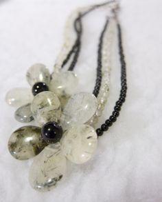 rutilated quartz flowers