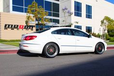 Love this #VW CC lowered on Megan Racing Coilovers