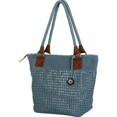 Costco: Crochet Tote – Aqua