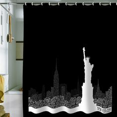 Restudio Designs New York Skyline 4 Shower Curtain