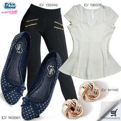 #peplum #polkadots #casual #cute #fashion #LaModaMasDeseada #México #girly    De venta en →http://tiendaenlinea.priceshoes.com/