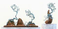 Otherworldly Bonsai Sculptures : bonsai art