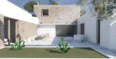 CASA MUNARQ ARQUITECTURA EN MALLORCA 2 Garage Doors, Houses, Garden, Outdoor Decor, Home Decor, Home, Architecture, Majorca, Homes