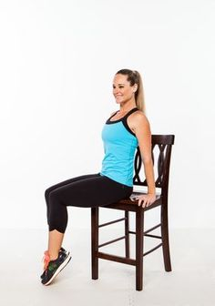All you need for this total-body workout is 20 minutes and a dining room chair! #myfitnesspal