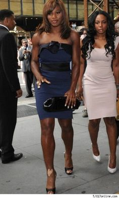 Serena Williams  struts her stuff