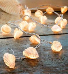 idees deco romantique, guirlande lumineuse de style marin, decoration romantique