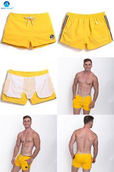 [Visit to Buy] Gailang Brand Men Beach Board Shorts Short Bottoms Running Sports Swim Surf Boxer Trunks Shorts Boardshorts Swimwear Swimsuits #Advertisement