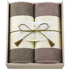 Gokujo Towel (Extra Fine) Imabari 2-Piece Bath Towel Set in Wood Gift Box Cool Japan Selection Collectible - CDJapan