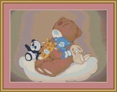 Teddy And Friends Cross Stitch Pattern by AvalonCrossStitch