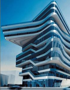 Spiral Tower by Zaha Hadid in Barcelona ( arquitetura, arquitetura contemporânea) Futuristic Architecture, Beautiful Architecture, Contemporary Architecture, Art And Architecture, Barcelona Architecture, Modern Contemporary, Chinese Architecture, Library Architecture, Innovative Architecture