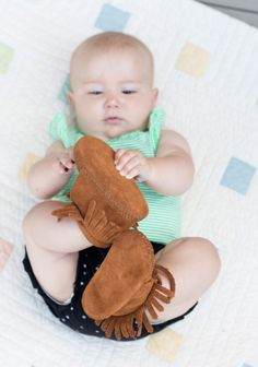 Cutie baby Minnetonka Moccasins!