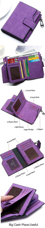 US$8.78 Woman PU Candy Color Short Style Card Bag Change Bag Girls Elegant Wallet Purse