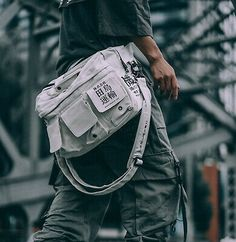 Streetwear Brands, Streetwear Fashion, Cyberpunk, Crossbody Bags For Travel, Travel Bag, Color Khaki, Striped Fabrics, Casual Bags, Urban Outfits