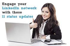 Engage your network with these 11 #LinkedIn status updates https://www.giraffecvs.co.uk/linkedin-status-updates/