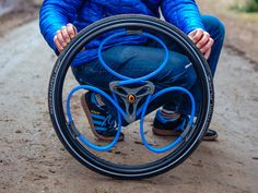 Designer Sam Pearce created a spoke-less, shock-absorbing wheel that's being used on wheelchairs and bicycles.