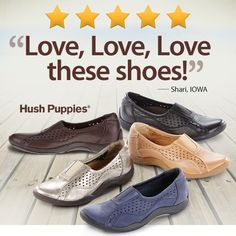 Hush Puppies have light-as-air footwear in hard-to-find widths. Find the Hush Puppies Ease only at FootSmart! #HushPuppies