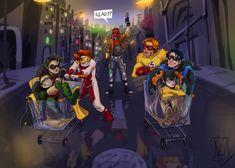 Im Batman, Batman Robin, Marvel Dc Comics, Superhero Family, Batman Family, Tim Drake, Nightwing, Batgirl, Nananana Batman