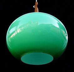 A Rare Holmegaard Pendant Lamp in Teak + Cased Glass :: modernlove20.com