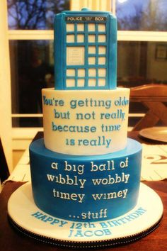A beautiful #DoctorWho themed cake from one of our fans!