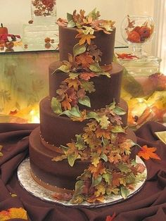 chocolate fall cake by ks4e44