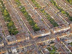 London Suburbs: The stunning aerial images were captured by photographer Jason Hawkes while he was shooting various assignments across the country in a helicopter