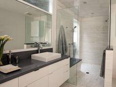 XXX Contemporary White Bathroom : Bathroom Remodeling : HGTV Remodels