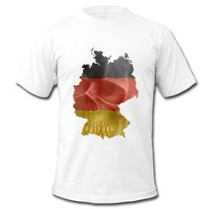 Zeige, wo du her kommst...Totenkopf und deutsche Flagge in einer Deutschlandkarte eingepasst.