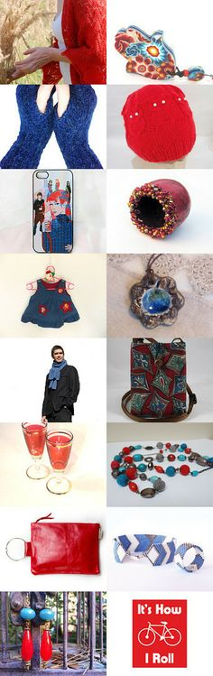 red and blue gifts by Susan Rodebush on Etsy--Pinned with TreasuryPin.com