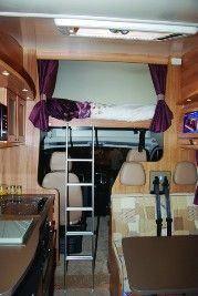 Drop-down Bed Motorhome Layouts - Buyers Guide - Motorhomes & Campervans Motorhome, Casper Bed, Camper Conversion, Buyers Guide, Campervan, Bunk Beds, Bedroom, Drop, Layouts