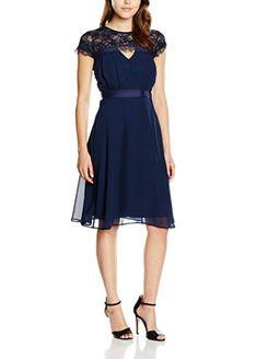 d65bbda504 Elise Ryan Lace Top Skater Dress Navy Size UK 14 rrp 55 DH089 KK 10