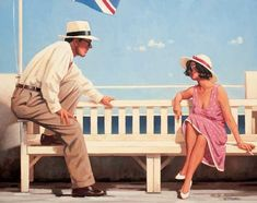 Jack Vettriano Mr. Cool painting Free worldwide Shipping - paintingsframe.com