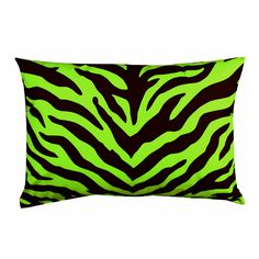 Kimlor Zebra Lime Oblong Pillow | Bed Planet | Bedplanet.com