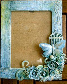 Photo Frame Decoration, Photo Frame Crafts, Picture Frame Decor, Decorate Picture Frames, Photo Frames Diy, Handmade Picture Frames, Butterfly Frame, Flower Frame, Hobbies And Crafts