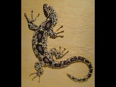 Мастер класс Барельеф ящерицы по трафарету из декоративной штукатурки *Декор стен своими руками* - YouTube