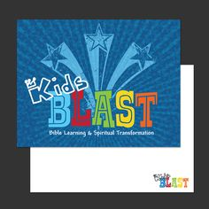 Jen Brookman Graphic Design » Kids Blast – Postcard Design