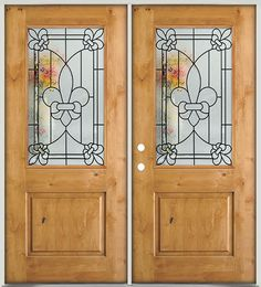 A beautiful knotty alder wood door is a great choice for your home entry. We offer a wide range of exterior door styles with a variety of glass designs, all at discount prices in Houston, Texas.
