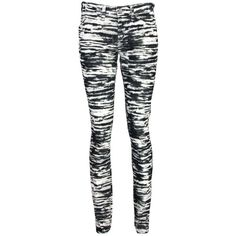 Etoile Isabel Marant Iti Tiger Print Jean (€240) ❤ liked on Polyvore featuring jeans, pants, bottoms, leggings, calças, anthracite, corduroy skinny jeans, skinny fit jeans, zipper skinny jeans and mid-rise jeans