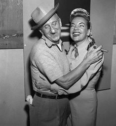 Carmen Miranda and Jimmy Durante