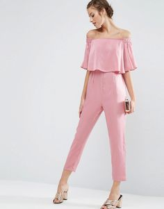 Off-the-shoulder everything is staying with the in crowd this season (yes!), so carry on the bardot trend with this satin all-in-one. Complete with side ruffles and straight leg, this baby will win you best-dressed guest and leave you with enough cash for the bar