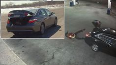 The woman had been abducted at gunpoint and forced into the trunk of her own car.
