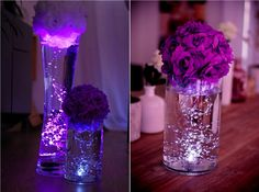 centerpiece, centerpiece, light centerpiece, centerpiece bright, centr … - Home Page Lighted Centerpieces, Vases Decor, Wedding Centerpieces, Wedding Decorations, Wedding Ideas, Vase Crafts, Vase Arrangements, Vase Shapes, White Vases