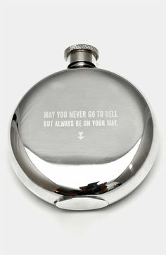 Izola 'May You Never' Flask | Nordstrom  To Live by: May you never go to hell, but always be on your way.