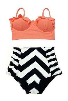 4233dfc0ff1da High Waist Swimsuit Bikinis Women Plus Size Swimwear Bathing Suits Vintage  Retro Floral Push Up Bikini