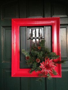"Christmas ""wreath"". So easy to make!"