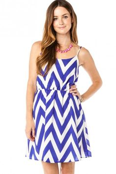 Forever Zig Zag Sundress in Ink Blue