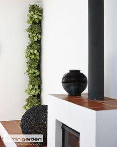 Minigarden corner zwart kolom