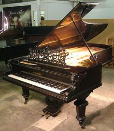 Bechstein Model E Grand Piano: Traditional upright Piano for sale: Besbrode Pianos Leeds: We buy and sell new and secondhand pianos. Specialist piano dealer, trader and wholesaler. Grands and Uprights in stock for sale and hire. Piano Removals. Replica Parts. Piano information