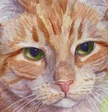 Image result for watercolor cat paintings
