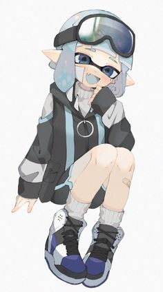 Splatoon Squid, Splatoon Memes, Splatoon 2 Art, Splatoon Comics, Haikyuu Anime, Anime Chibi, Kawaii Anime, Anime Art, Game Character